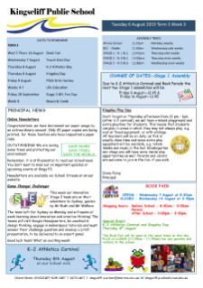 Newsletter Week 3 Term 3