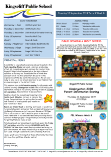 Newsletter Week 8 Term 3