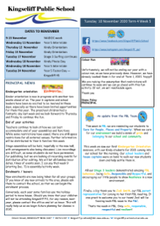Newsletter Term 4 Week 5