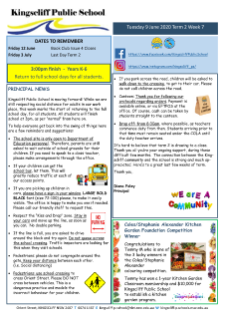 Newsletter Term 2 Week 7