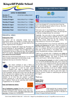 Newsletter Term 3 Week 5