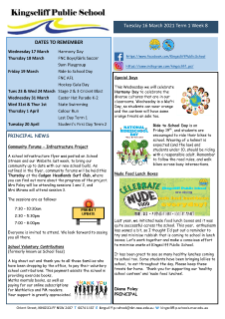 Newsletter Term 1 Week 8